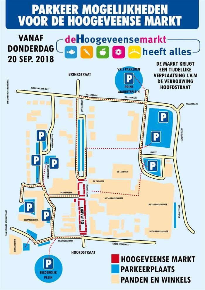 Parkeren Hoogeveense Markt