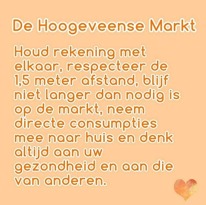 De Markt Hoogeveen gaat door Haal uw boodschappen op de markt
